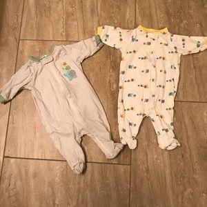 Elephant newborn footie set